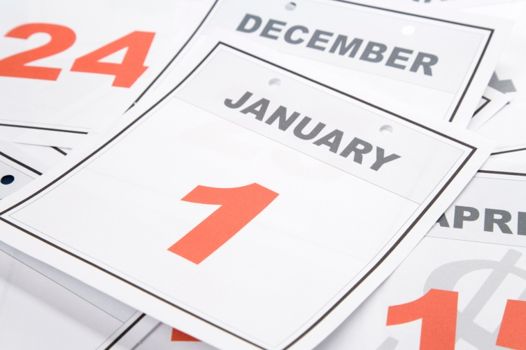 Calendar New Year's Day